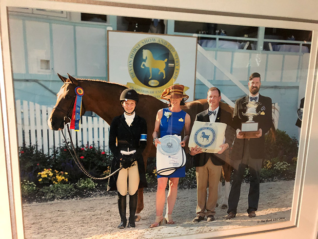 Mountain Home Stable's Krave and Hunter Siebel Champion Small Junior Hunter 16-17 2016 Devon Horse Show Photo by The Book LLC