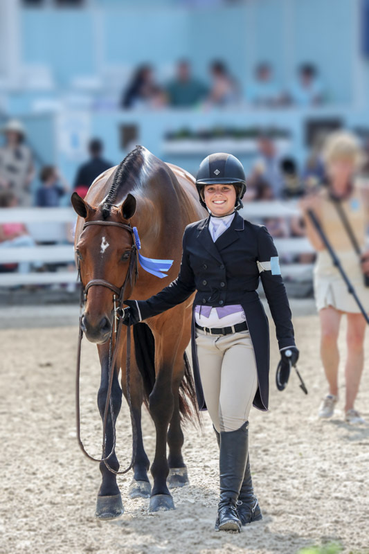 Stella Wasserman and Boss Small Junior Hunter 2018 Devon Horse Show