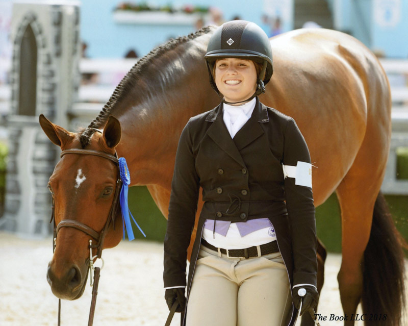 Stella Wasserman and Boss Small Junior Hunter 2018 Devon Horse Show Photo by The Book LLC