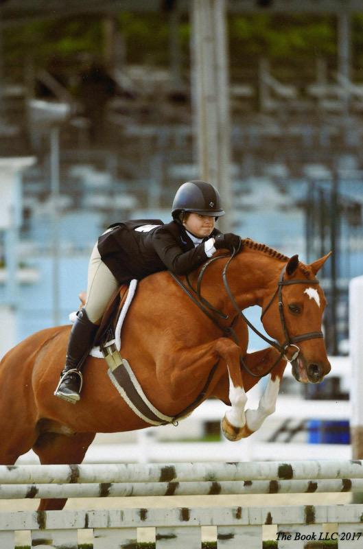 Stella Wasserman and Spellbound Champion Large Junior Hunter 2017 Devon Horse Show Photo by The Book LLC
