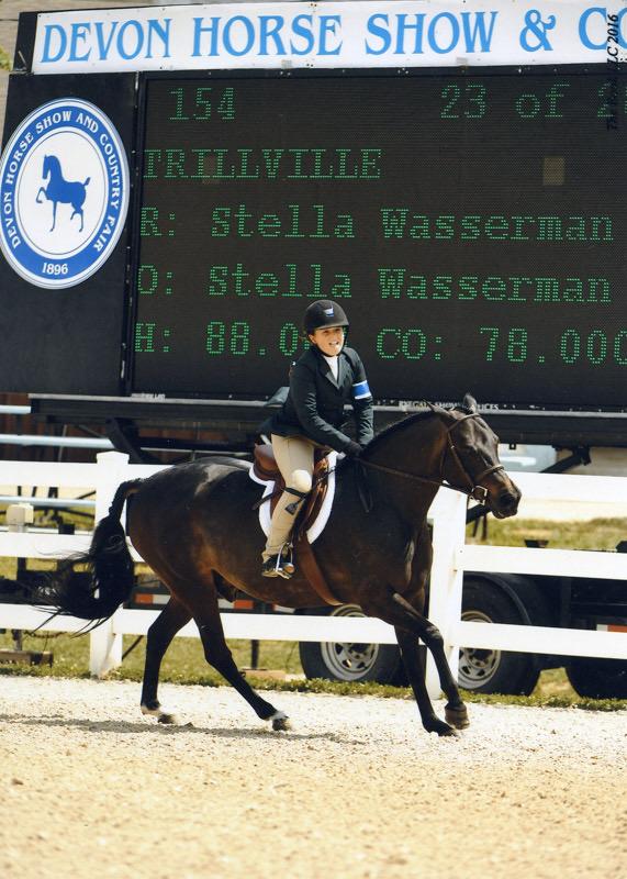 Stella Wasserman and Trillville 2016 Devon Horse Show