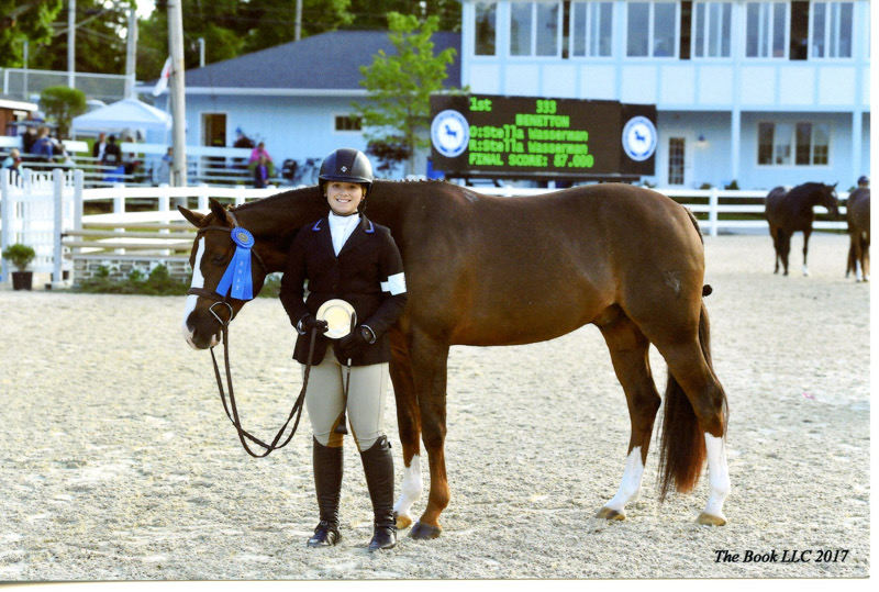 Stella Wasserman and Benetton Large Pony Hunter 2017 Devon Horse Show Photo by The Book LLC