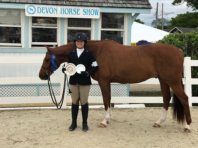 Stella Wasserman and Spellbound Large Pony Hunter 2017 Devon