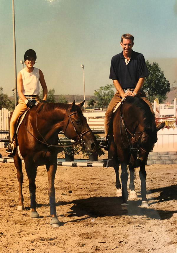 Archie Cox and Maryann Baribault 1998 Karen Healy Stables