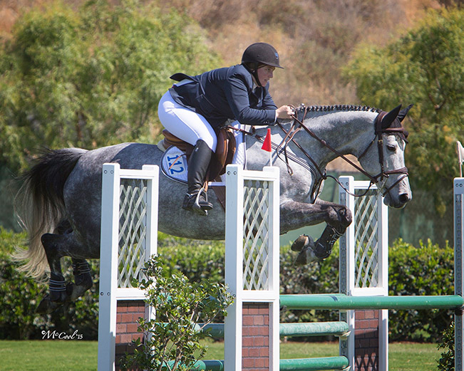 Bridget Samuels and Gifted Low Children's/Adult Jumper Classic 2015 Blenheim Spring Photo by Amy McCool