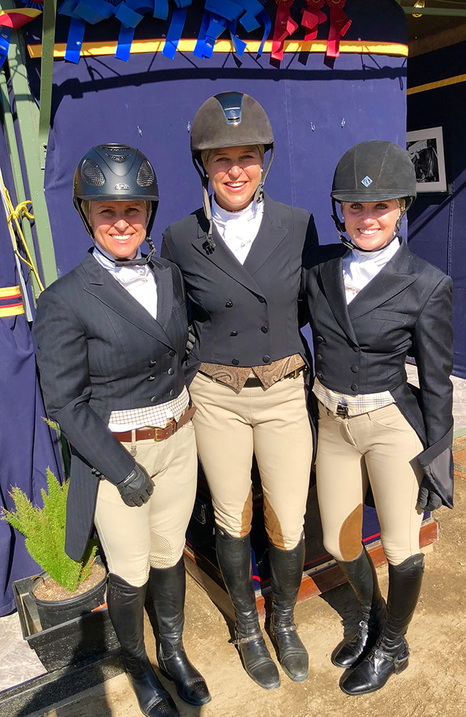Brookway Stables Group Show: Virginia Fout, Jaime Krupnick and Karli Postel 2018 Temecula Horse Show