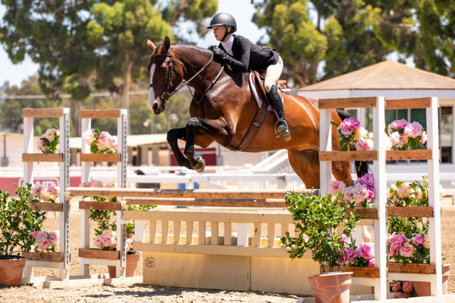 Gable Gering and Caramo Z 2020 Del Mar Summer Classic Combined AO & JR Hunter Classic Winner Photo by Sara Shier