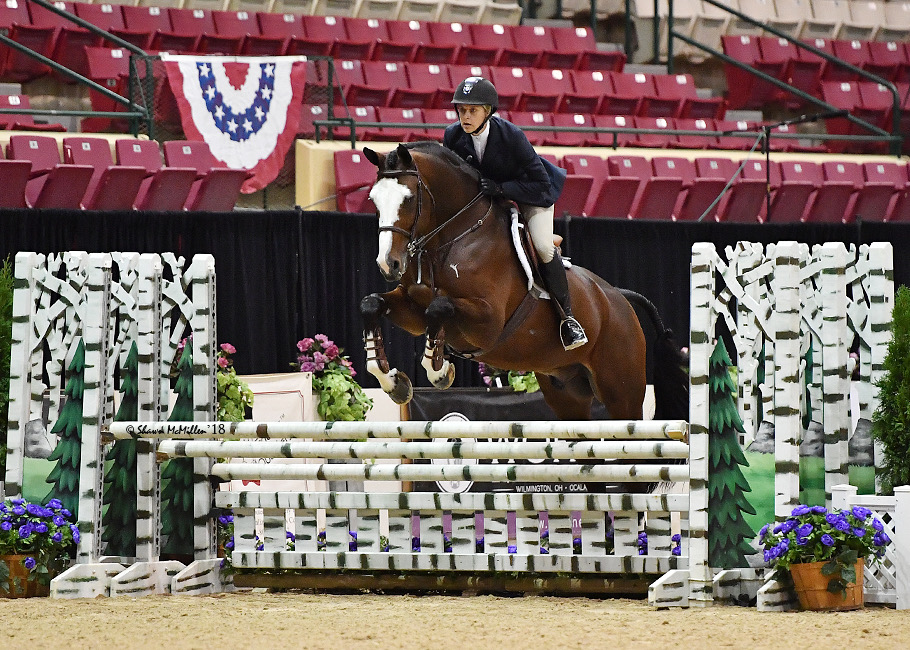Jaime Krupnick and Conux Ariat Medal Finals 2018 Capital Challenge Photo by Shawn McMillen
