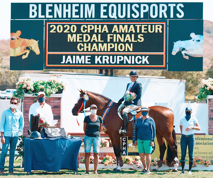 Jaime Krupnick and Conux 2020 CPHA Amateur Medal Finals Champion Blenheim EquiSports