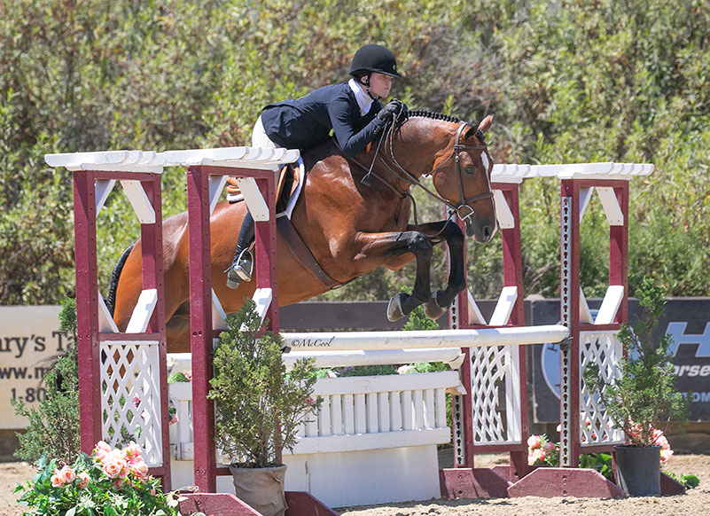 "Eve Tarpey and High Regard 3'3"" Junior Hunters 2020 Blenheim Oaks Photo by McCool"