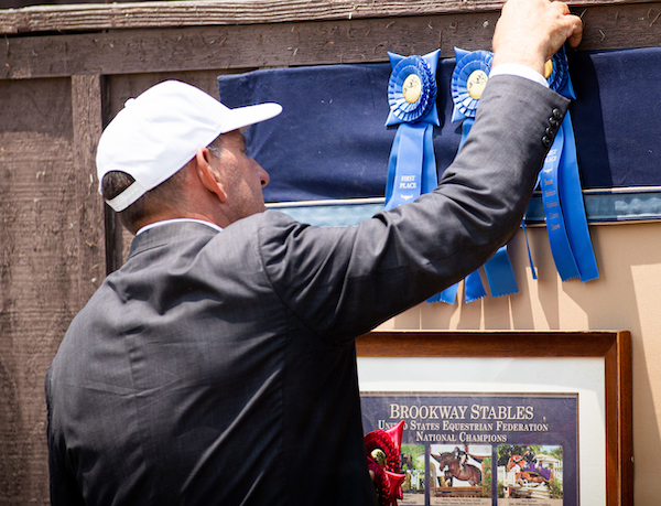 Brookway Stables barn blue ribbons