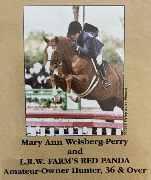 Mary Ann Weisburg-Perry and L.R.W. Farm's Red Panda